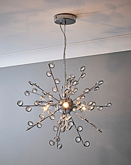 Sputnik 3 Light Fitted Pendant