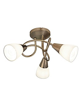 Alessia Antique Brass Ceiling Light