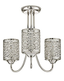 Jai Fretwork 3 Arm Ceiling Light