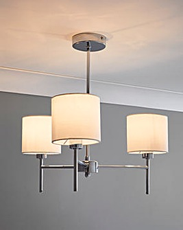 Smith 3 Light Fitted Ceiling Light