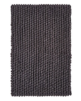 Micro Cotton Bobble Bathmat- Anthracite
