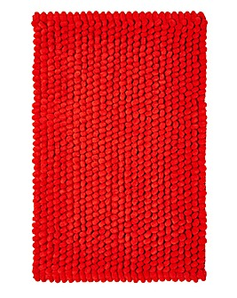 Micro Cotton Bobble Bathmat- Tomato