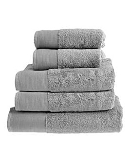 Bamboo Cotton Towels- Silver Grey