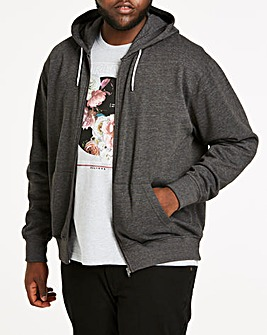 Charcoal Full Zip Hoody Long