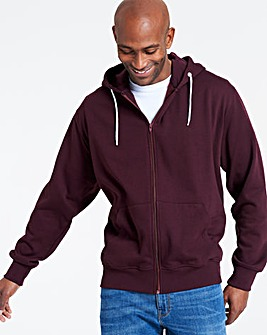 Wine Full Zip Hoody