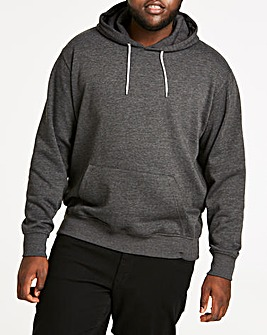 Charcoal Over Head Hoody Long