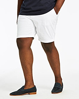 White Stretch Chino Shorts
