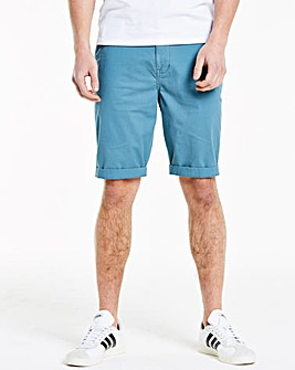 Blue Stretch Chino Shorts