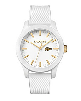 Lacoste White Silicon Strap Watch