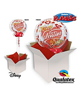 Red Hearts Bubble Balloon