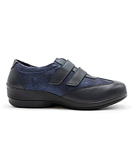 Padders Sadie Leather Touch and Close Shoes Wide E Fit