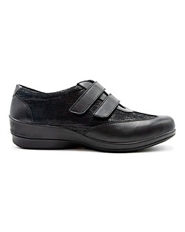 Padders Sadie Leather Touch and Close Shoes Extra Wide EEE Fit