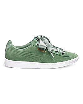 Puma Vikky Ribbon Suede Trainers