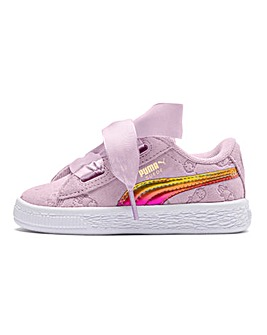 Puma Minions Suede Heart Fluffy Trainers