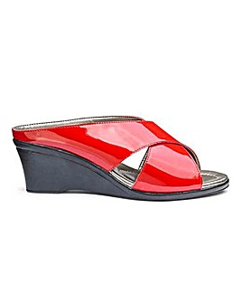 Lotus Cross Over Wedge Sandals Wide E Fit