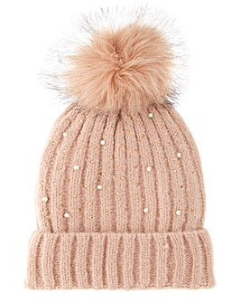 Joanna Hope Pink Peal & Crystal Hat