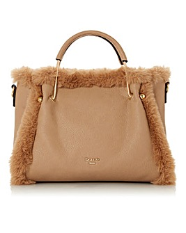 Dune Teddy Medium Faux Fur Lined Bag