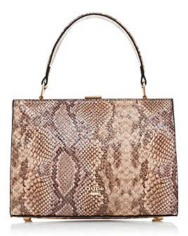 Dune Snake Print Leather Shoulder Bag