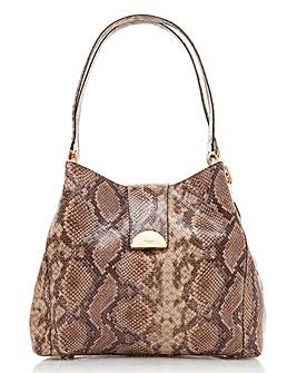 Dune Snake Print Hobo Bag