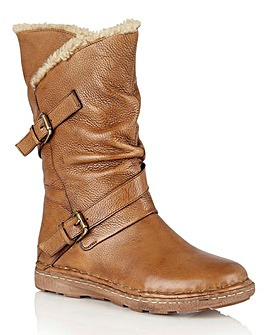 Lotus Jolanda Leather Mid Calf Boots Wide E Fit