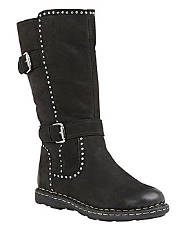 Lotus Daintree Leather Mid Calf Boots Wide E Fit