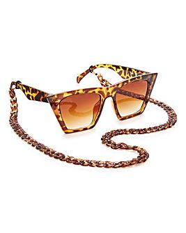 Glamorous Tort Chain Sunglasses