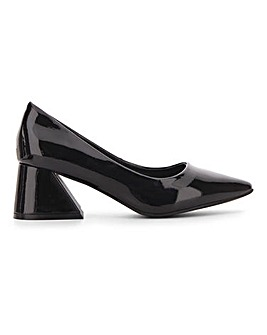 Glamorous Block Heel Court Shoes E Fit