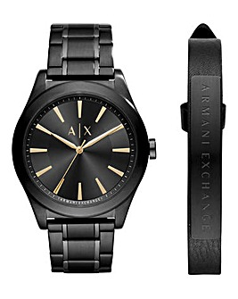 Armani Exchange Watch & Bracelet Set