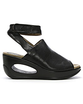 Fly London Hini Leather Wedge Sandals