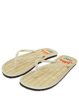 Accessorize Lotus Seagrass Flip Flops