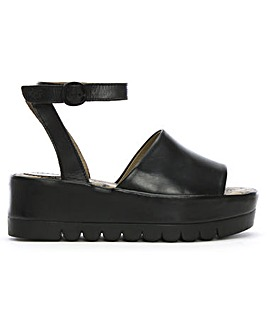 Fly London Booz Leather Flatform Sandals