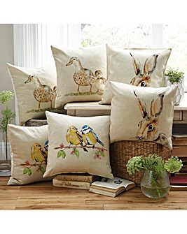 Ducks Print Filled Cushion Pack of 2