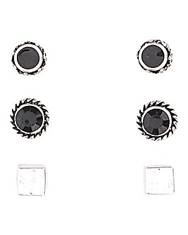 Jacamo Black Stud Earring Pack