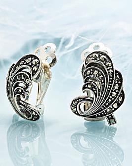 Thirties Style Fan Earrings