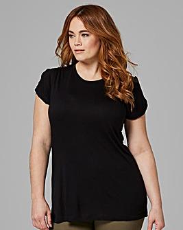 Black Twist Cold Shoulder T-shirt