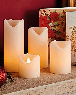 Flameless LED Candle Set of 4