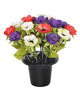Anemone Grave Pot