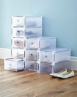 Flat Pack Stacking Shoe Storage Pack 10