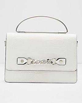 Aldo Thirelle Mini Croc Bag WIth Chain Detail