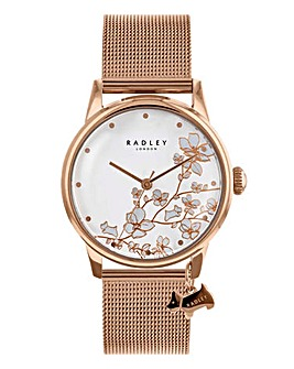 Radley Ladies Mesh Strap Flower Watch