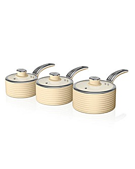 Swan Non Stick Any Stove Pan Set of 3