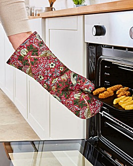 Strawberry Thief Extra Long Oven Mitt