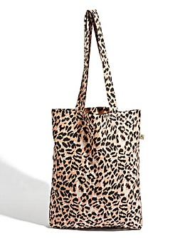 Oasis Leopard Print Canvas Tote Bag