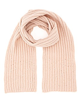 Joanna Hope Pink Pearl And Crystal Scarf