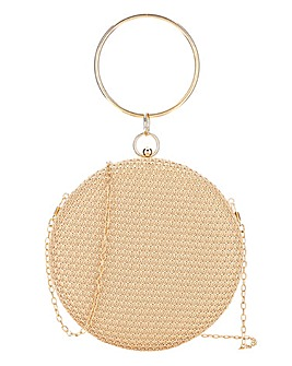 Glamorous Circular Wristlet Woven Bag