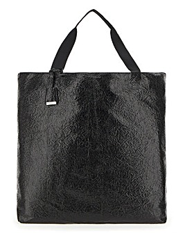 Glamorous Oversized Crinkle Patent Tote Bag