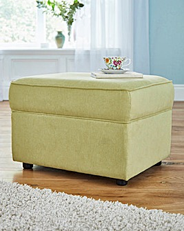 Chenille Storage Footstool