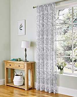 Linen Look Single Voile Panel