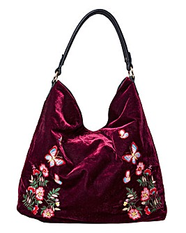 Joe Brown Reversible Velvet Bag