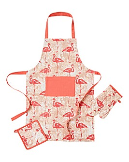 Flamingo Apron Glove Pot Holder